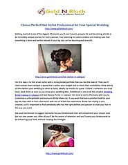 choose perfect hair stylist professional for your wedding.pdf