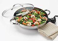Aroma AFP-1600S Stainless Steel Electric Skillet