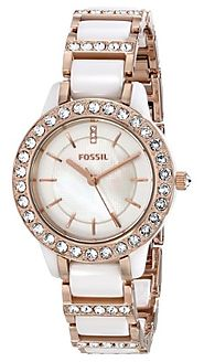 Fossil Women's CE1041 Jesse White Ceramic Rose Gold Tone Watch Review