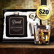 Giftware Direct Offers Hip Flask set