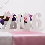 Decorative Wedding Table Numbers by Giftware Direct
