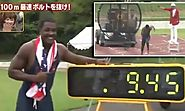 Justin Gatlin smashes Usain Bolt's 100m record... but it won't count