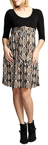 Nordstrom - Maternal America Ikat Print Tie Front Dress