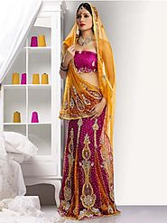 Website at http://www.bharatplaza.com/women/sarees/bridal-sarees.html