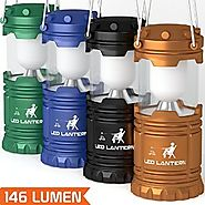 [4 Pack] LED Camping Lantern Flashlights - Hurricane Emergency Tent Light - Backpacking, Hiking, Fishing, & Outdoor L...