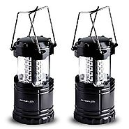 2 Pack LED Lantern Flashlights - Camping Lantern - Collapses - Suitable for: Hiking, Camping, Emergencies - Lightweig...