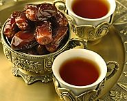 Kahwa with dates and halwa