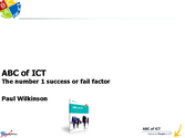 ABC of ICT the number 1 success or fail factor for ITSM