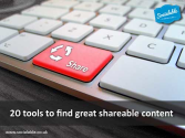 20 tools to find great shareable content