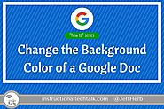 Change the Background Color of a Google Doc