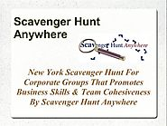New York Scavenger Hunt - Promotes Business Skills & Team Cohesive..
