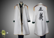 One Piece Cosplay Captain Smoker Jacket Marine Uniform