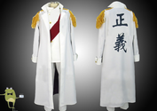 One Piece Sengoku Cosplay Costume Marine Admiral Uniform