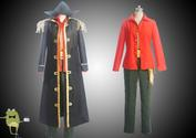 One Piece Blackbeard Marshall D Teach Cosplay Costume Coat