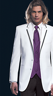 Want To Hire White Tux with Black Trim