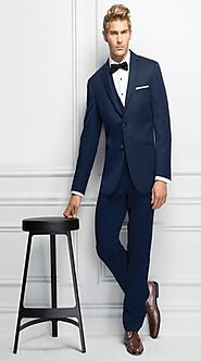 Buy Navy Sterling Wedding Suit on Rental