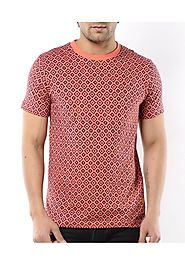 Aberdeen Mens Coral And Navy Tog t shirt - fashionothon