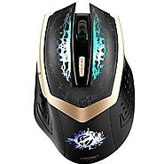 SROCKER G600S 2.4GHz Wireless Silent Click Rechargeable Professional Gaming Mouse/Mice Optical Breathing LED Mouse wi...