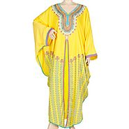 Usa Yellow Sparkle Jilbab For Womens