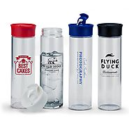 New drinkware trend: Logo Customized Glass water bottles & beverage containers