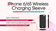 Buy a stylish and powerful EIDER wireless charging sleeve for iPhone 6 and 6s