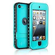iPod 5 iPod 6 Waterproof Case, Merit Waterproof Shockproof Dirtproof Snowproof Case Cover with Kickstand for Apple iP...