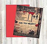 Zombie Party Supplies and Decorations (Invitations)