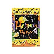 Party Ghost Halloween Invitations, 8ct