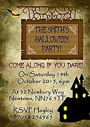 Haunted House Personalized Halloween Party Invitations