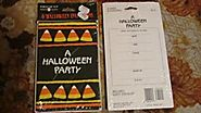 "Forget Me Not American Greetings 8 Halloween Invitations with Envelopes - Candy Corn ""A Halloween Party"""