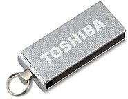 Toshiba 4 GB Micro Swivel USB Flash Drive, Chrome (PA3879U-1M4S)