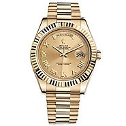 Replique Montre Rolex Day-Date II Champagne 18kt automatique en or jaune 218238CRP