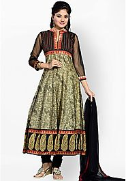 Multi Color Suits Set Embroidered Churidar Kameez Dupatta