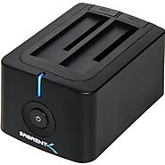 Sabrent USB 3.0 to SATA Dual Bay External Hard Drive Docking Station for 2.5 or 3.5in HDD, SSD with Hard Drive Duplic...