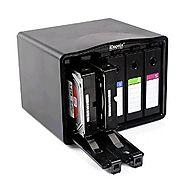 iDsonix 5-Bay 3.5-Inch Hard Drive Protective Case Hard Disk Drive Storage Box, Black (IDPA35)