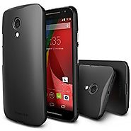 Moto G 2014 Case - Ringke SLIM Moto G 2nd Gen. Case [Free HD Film/Better Grip][SF BLACK] Premium Dual Coated Hard Cas...