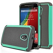 Moto G 2nd Gen Case, MagicMobile [Dual Armor Series] Hybrid Impact Resistant Moto G 2nd Generation Shockproof Tough C...