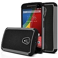 Moto G Case, MagicMobile [Dual Armor Series] Hybrid Impact Resistant Moto G 2nd Generation Shockproof Tough Case Hard...