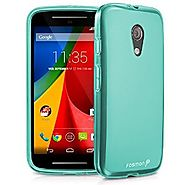 Fosmon DURA-FROST Smooth Durable & Flexible Slim Fit TPU Case Cover for Motorola Moto G (2nd Generation) - 2014 (Teal)