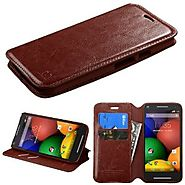 Moto G 2nd Gen EXT 2014 Case - Wydan (TM) Credit Card Leather Wallet Style Case Cover For Motorola Moto G 2nd Gen - B...