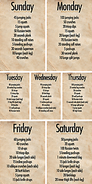 Total Body Routine for 6 Days a Week