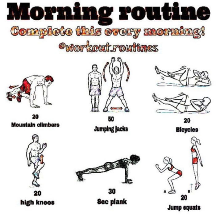 Best morning workout routine at home