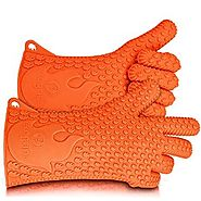 Ekogrips BBQ Grilling Gloves, Most Versatile Oven Mitts & Hot Pads. Lifetime Warranty! Loved By Andrew Zimmern & Mart...