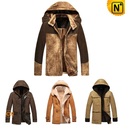 Men Hooded Leather Coat CW141403