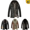 Mens Fur Leather Jacket CW141477