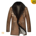 Mens Shearling Coats with Fur Trim CW878505