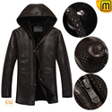 Men Shearling Fur Lined Leather Jacket CW877193