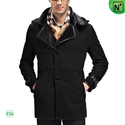 Black Sheepskin Coat for Men CW868903