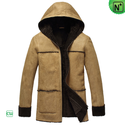 Men Hooded Leather Sheepskin Jacket CW878092