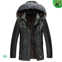 Sheepskin Coat with Hood CW868866